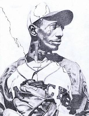 Satchel Paige Drawing - American Ball by Paul Smutylo
