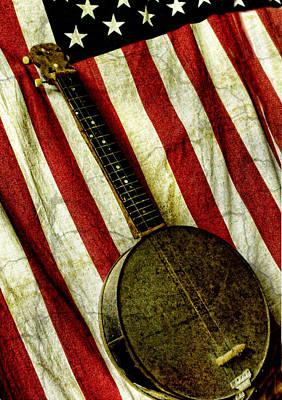 Hand Made Digital Art - American Banjo by Kristie  Bonnewell