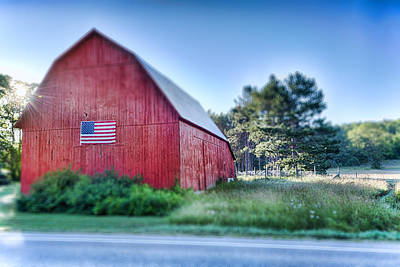 Art Print featuring the photograph American Barn by Sebastian Musial