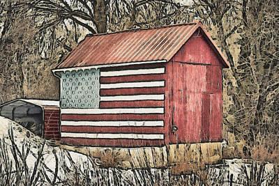 Landmarks Royalty Free Images - American Barn Royalty-Free Image by Trish Tritz