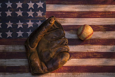 American Baseball Art Print by Garry Gay