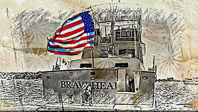 Digital Art - American Braveheart by Carrie OBrien Sibley