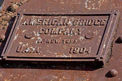 Photograph - American Bridge Company 1904 by Joseph C Hinson Photography