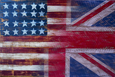 Cross Photograph - American British Flag by Garry Gay