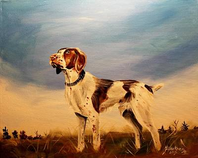 Painting - American Brittany by Henry Blackmon