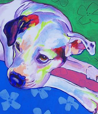 American Bulldog - Raja Original by Alicia VanNoy Call