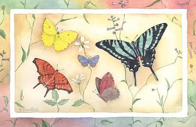 Monarch Painting - American Butterflies II by Paul Brent