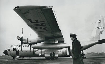 American C.130 E. Aircraft - Demonstrated For Air Force Art Print by Retro Images Archive