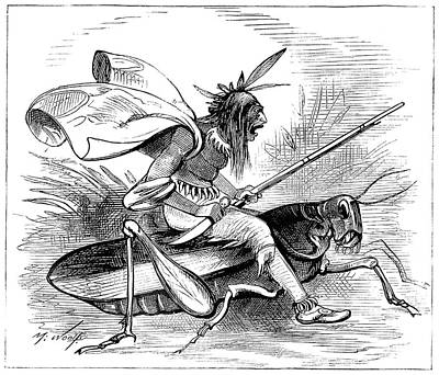 Grasshopper Painting - American Cartoon, 1874 by Granger
