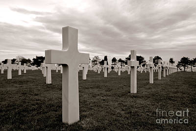 American Cemetery In Normandy  Art Print by Olivier Le Queinec