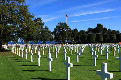 Photograph - American Cemetery Normandy by Aidan Moran