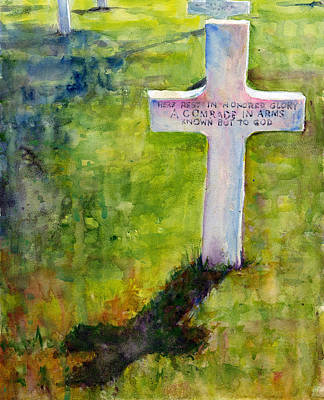 Painting - American Cemetery Normandy by John D Benson
