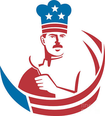 American Food Digital Art - American Chef Baker Cook by Aloysius Patrimonio