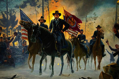 Universities Painting - American Civil War by Celestial Images