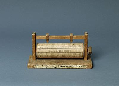Matrix Code Photograph - American Civil War Cipher Reel by Library Of Congress