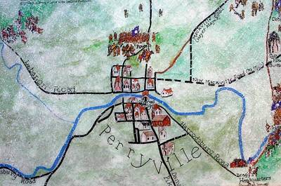 American Civil War Town - Perryville Ky Art Print by Thia Stover