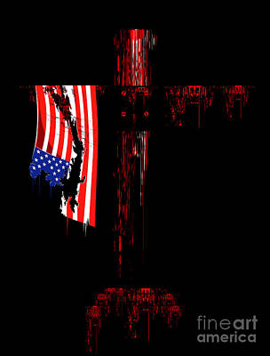 Rip Off Photograph - American Cross by Wagner WM