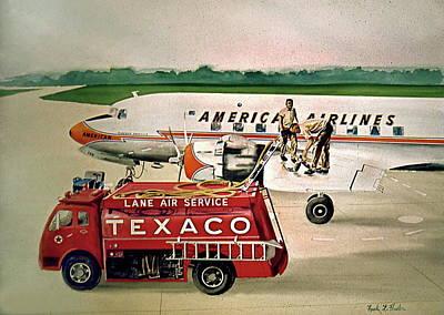 American Dc-6 At Columbus Art Print by Frank Hunter
