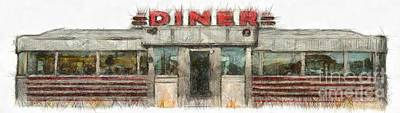 Photograph - American Diner Pencil by Edward Fielding
