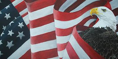 American Eagle Painting - American Eagle by Ambre Wallitsch