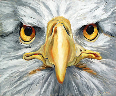 Philadelphia History Painting - American Eagle - Bald Eagle By Betty Cummings by Sharon Cummings