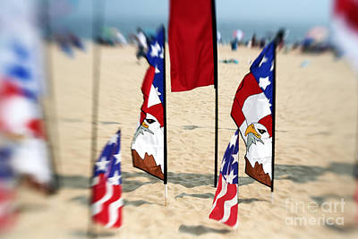 Photograph - American Eagle Flag by John Rizzuto