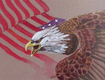 Painting - American Eagle by Jean Ann Curry Hess