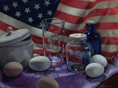 Painting - American Eggs by Suzn Art Memorial