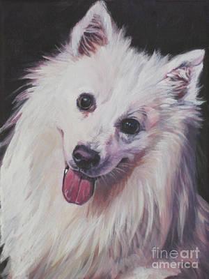 American Eskimo Dog Painting - American Eskimo Dog by Lee Ann Shepard