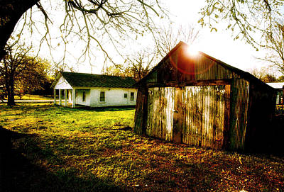 Photograph - American Fabric   Mickey Mantle's Childhood Home by Iconic Images Art Gallery David Pucciarelli