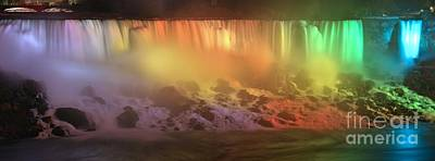 Photograph - American Falls Evening Rainbow by Adam Jewell