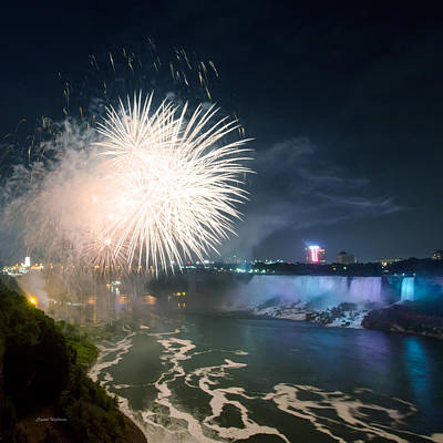 Photograph - American Falls Fireworks by Crystal Wightman