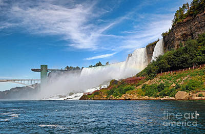 Photograph - American Falls Landmarks by Charline Xia