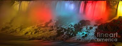Photograph - American Falls Rainbow by Adam Jewell