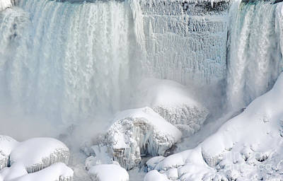 Photograph - American Falls Winter by Charline Xia