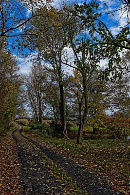 Landmarks Royalty Free Images - American Farm Lane Royalty-Free Image by William Jobes
