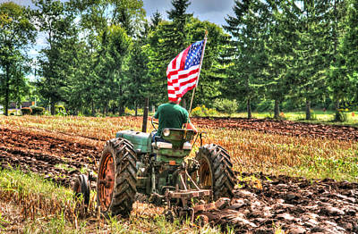 Old Tractors Photograph - American Farmer by Michael Allen