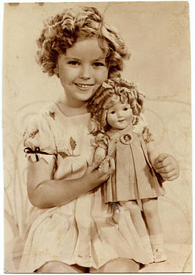 Shirley Temple Photograph - American Film Actress Shirley  Temple by Mary Evans Picture Library