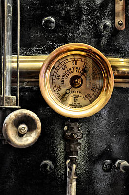 Steampunk Photograph - American Fire Engine Company Gauge by Bill Cannon