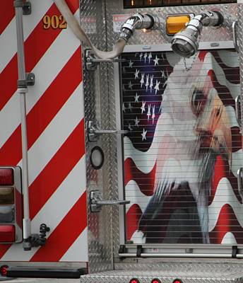 Photograph - American Fire Engine by Dan Sproul