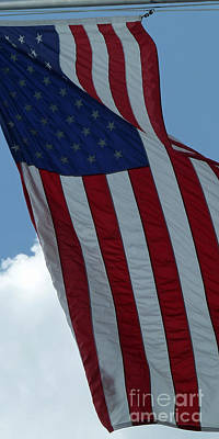 Photograph - American Flag 2 by Sally Simon