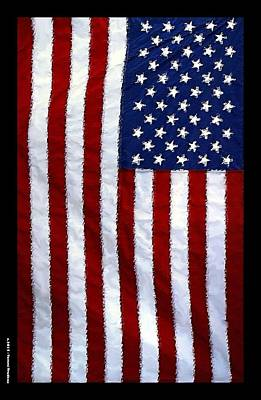 Patriot Mixed Media - American Flag 2 by Tommi Trudeau
