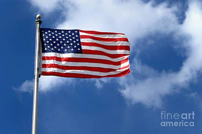 Stripes Digital Art - American Flag by Amy Cicconi