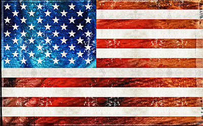 Stars And Stripe Painting - American Flag Art - Old Glory - By Sharon Cummings by Sharon Cummings