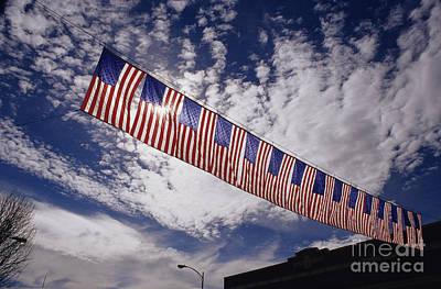 Photograph - American Flag Banner by Jim Corwin