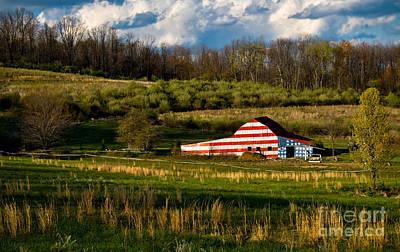 American Flag Barn Art Print by Amy Cicconi