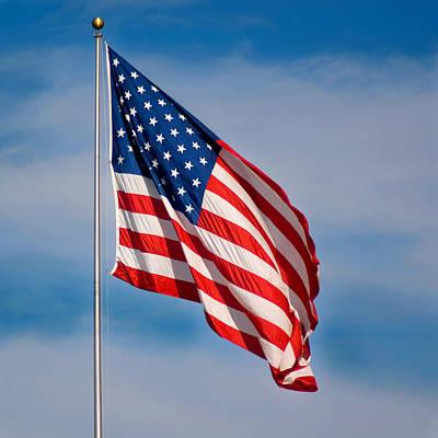 American Flag Print by Benjamin Reed