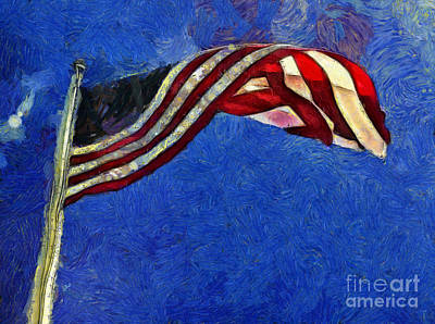 Photograph - American Flag by Claire Bull