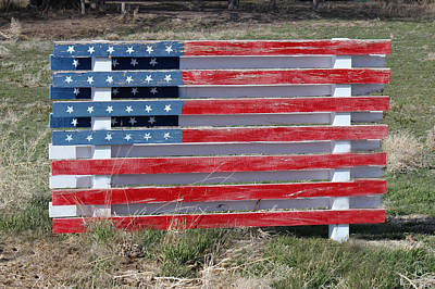 Art Print featuring the photograph American Flag Country Style by Sylvia Thornton