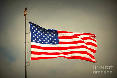 Photograph - American Flag by Derry Murphy